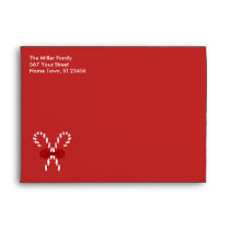 Red Candy Cane Envelope