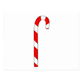 Red Candy Cane Postcard