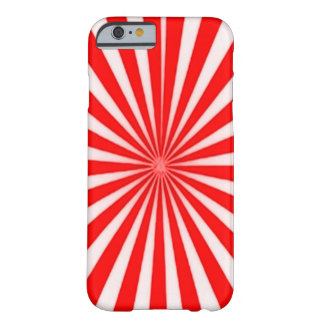 Red Candy Cane Star Burst Pattern Barely There iPhone 6 Case