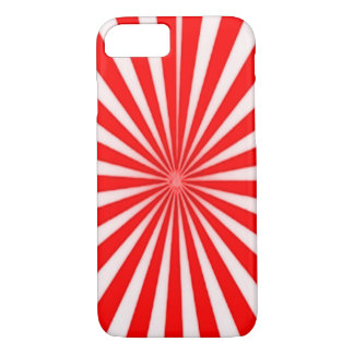 Red Candy Cane Star Burst Pattern iPhone 7 Case