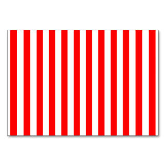 Red Candy Cane Stripes Table Cards