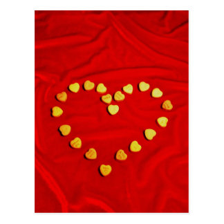 Red Candy Hearts Heart Postcard