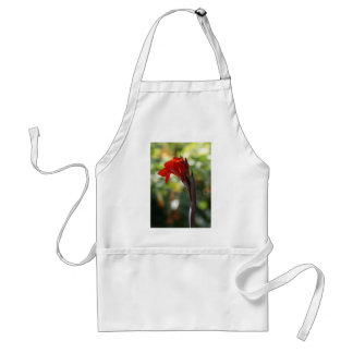 Red Canna Lily Adult Apron