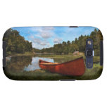 Red canoe on the lake bank samsung galaxy s3 case