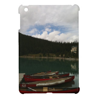 Red Canoes on Lake Cover For The iPad Mini