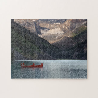 Red Canoes on Lake Louise Jigsaw Puzzle