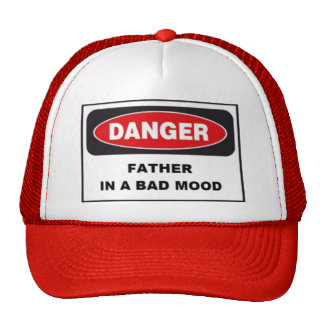 Red Cap, Danger, Father in Bad Mood! Trucker Hat
