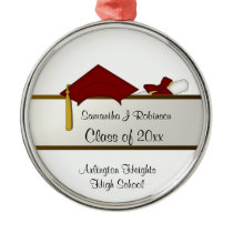 Red Cap Graduation Ornament