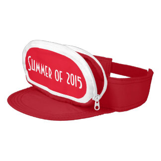 Red Cap-Sac fanny pack for head, Summer of 2015 Visor