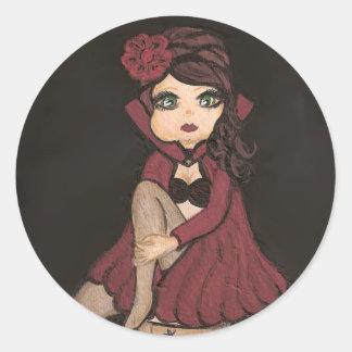 Red Cape Quantum Cutie Girl Sticker