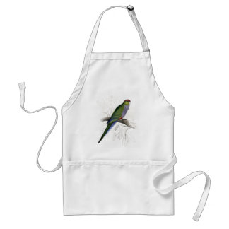 Red-Capped Parrakeet (Female) by Edward Lear Standard Apron