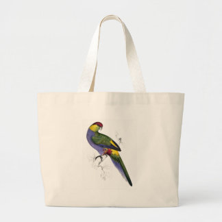 Red-Capped Parrakeet (Male) by Edward Lear Jumbo Tote Bag