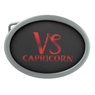 Red Capricorn Horoscope Symbol Belt Buckles