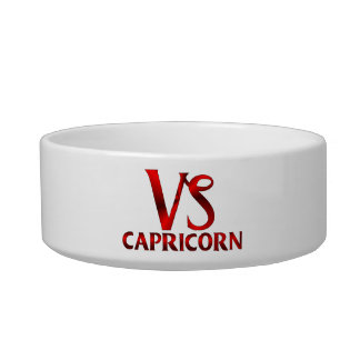 Red Capricorn Horoscope Symbol Bowl