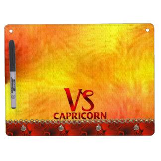 Red Capricorn Horoscope Symbol Dry-Erase Whiteboard