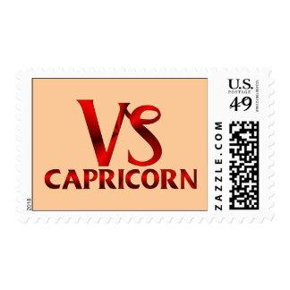 Red Capricorn Horoscope Symbol Postage