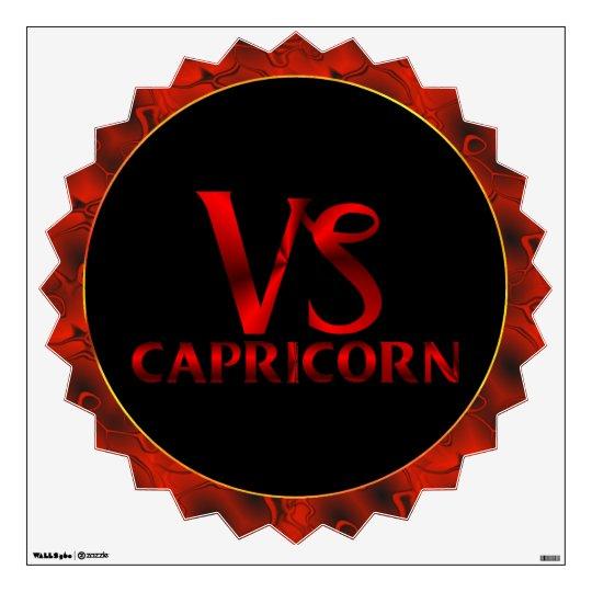 Red Capricorn Horoscope Symbol Wall Sticker