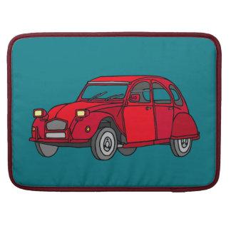 Red Car (2CV) Sleeve For MacBooks