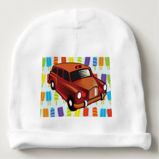 red car and Popsicle's Baby Beanie