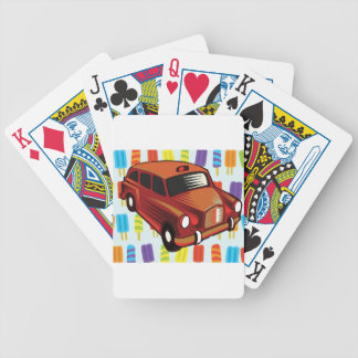 red car and Popsicle's Bicycle Playing Cards