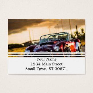 Red car.Classic car Business Card