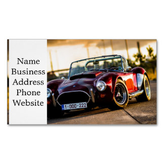 Red car.Classic car Magnetic Business Card