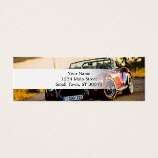 Red car.Classic car Mini Business Card