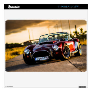 Red car.Classic car Skin For MacBook Air