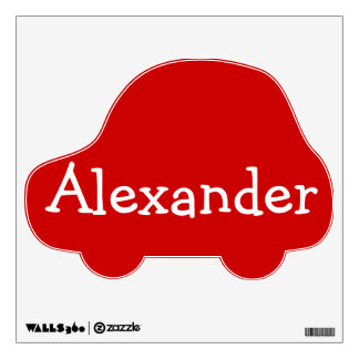 Red Car Personalized Wall Decal for Boys