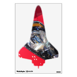 Red Car Space Shuttle Wall Skins