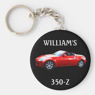 RED CAR, WILLIAM'S, 350-Z KEYCHAIN