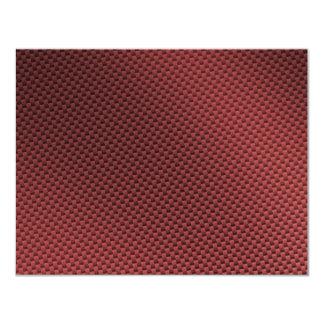Red Carbon Fiber Patterned Card