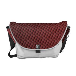 Red Carbon Fiber Patterned Courier Bag