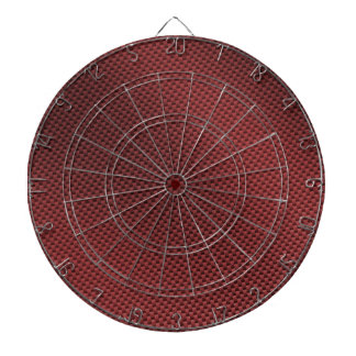 Red Carbon Fiber Patterned Dart Board