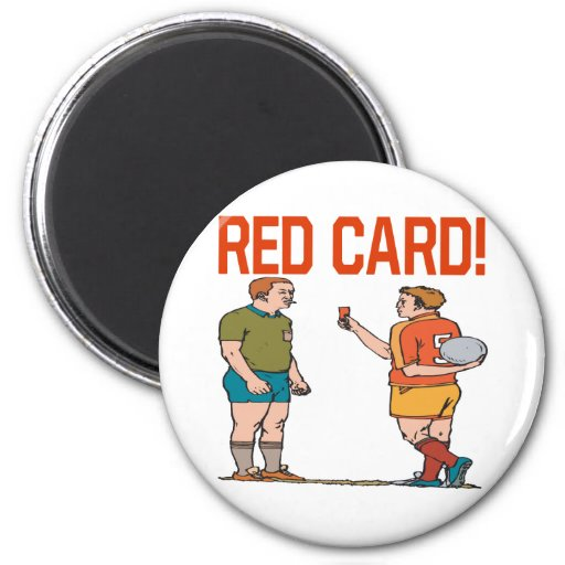 Red Card 2 Inch Round Magnet