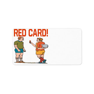 Red Card Address Label
