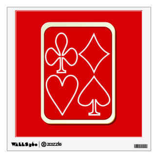 Red Card Suits Wall Decal