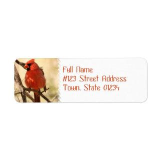 Red Cardinal  Address Labels