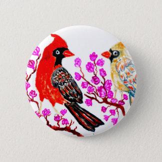 Red Cardinal Art3 Pinback Button