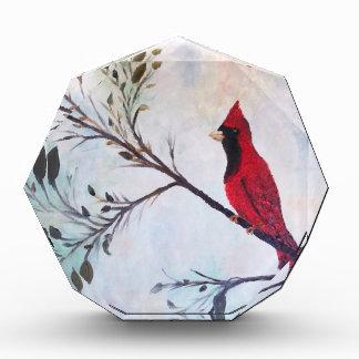 Red Cardinal Art Products at Zazzle by rokinronda Acrylic Award