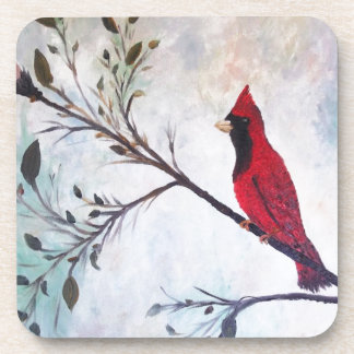 Red Cardinal Art Products at Zazzle by rokinronda Beverage Coasters