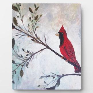 Red Cardinal Art Products at Zazzle by rokinronda Photo Plaque