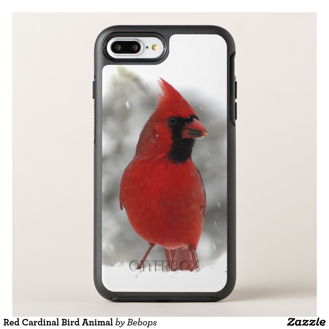 Red Cardinal Bird Animal OtterBox Symmetry iPhone 8 Plus/7 Plus Case