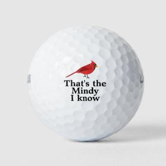 Red Cardinal Bird Custom Text Golf Balls