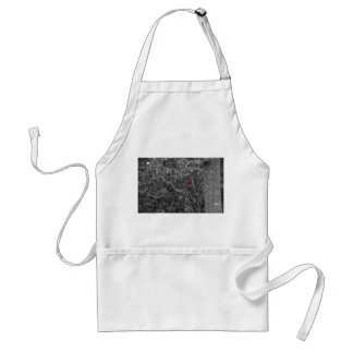 Red Cardinal Bird in a Tree Black White Adult Apron