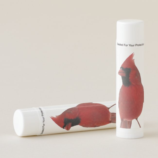 Red Cardinal Bird Lip Balm