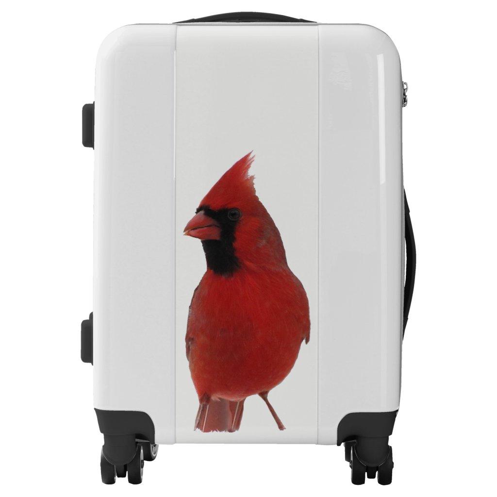 Red Cardinal Bird Luggage