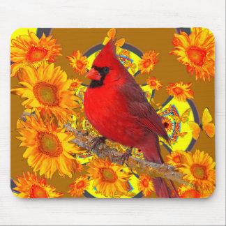 red cardinal bird mouse pad