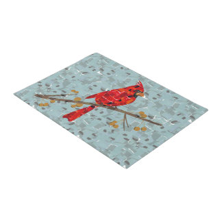 Red Cardinal Bird of Christmas Doormat