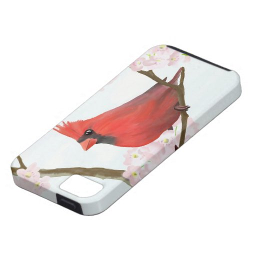 Red Cardinal Bird on a Cherry Blossom Tree iPhone 5 Case
